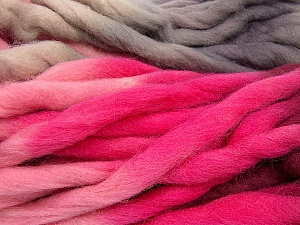 Fiber Content 100% Superwash Wool, Pink Shades, Lilac, Brand Ice Yarns, Burgundy, Beige, Yarn Thickness 6 SuperBulky  Bulky, Roving, fnt2-53574