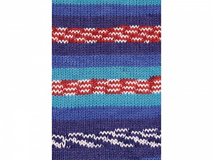 Fiber Content 100% Acrylic, White, Turquoise, Red, Brand Ice Yarns, Blue Shades, Yarn Thickness 4 Medium Worsted, Afghan, Aran, fnt2-53782