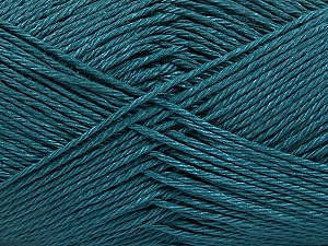 Fiber Content 100% Mercerised Cotton, Brand Ice Yarns, Dark Teal, Yarn Thickness 2 Fine  Sport, Baby, fnt2-53786