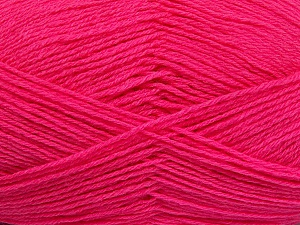 Fiber Content 60% Merino Wool, 40% Acrylic, Brand Ice Yarns, Bright Pink, Yarn Thickness 2 Fine  Sport, Baby, fnt2-53825