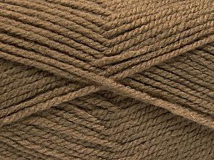 Worsted Fiber Content 100% Acrylic, Brand Ice Yarns, Camel, Yarn Thickness 4 Medium Worsted, Afghan, Aran, fnt2-53926