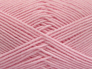 Fiber Content 50% Bamboo, 50% Acrylic, Light Pink, Brand Ice Yarns, Yarn Thickness 2 Fine  Sport, Baby, fnt2-54129