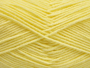 Fiber Content 50% Bamboo, 50% Acrylic, Light Yellow, Brand Ice Yarns, Yarn Thickness 2 Fine  Sport, Baby, fnt2-54130
