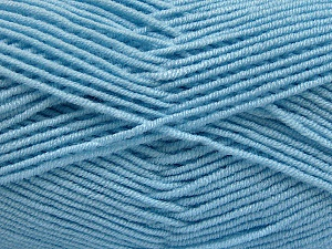 Fiber Content 50% Bamboo, 50% Acrylic, Brand Ice Yarns, Baby Blue, Yarn Thickness 2 Fine  Sport, Baby, fnt2-54232