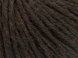 Fiber Content 55% Acrylic, 45% Wool, Brand Ice Yarns, Dark Brown, Yarn Thickness 5 Bulky Chunky, Craft, Rug, fnt2-54376