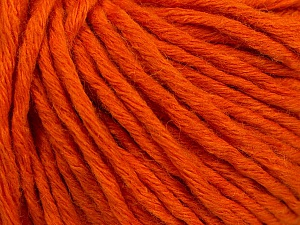Fiber Content 55% Acrylic, 45% Wool, Orange, Brand Ice Yarns, Yarn Thickness 5 Bulky Chunky, Craft, Rug, fnt2-54377