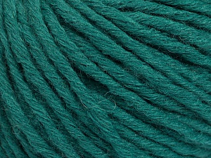 Fiber Content 55% Acrylic, 45% Wool, Brand Ice Yarns, Dark Green, Yarn Thickness 5 Bulky Chunky, Craft, Rug, fnt2-54380