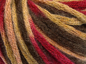 Fiber Content 50% Wool, 50% Acrylic, Brand Ice Yarns, Fuchsia, Brown Shades, Yarn Thickness 6 SuperBulky  Bulky, Roving, fnt2-54382