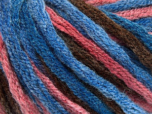 Fiber Content 50% Acrylic, 50% Wool, Salmon, Brand Ice Yarns, Brown, Blue Shades, Yarn Thickness 6 SuperBulky  Bulky, Roving, fnt2-54383