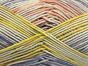 Fiber Content 50% Acrylic, 50% Cotton, Salmon, Lilac, Light Green, Brand Ice Yarns, Yarn Thickness 2 Fine  Sport, Baby, fnt2-54484