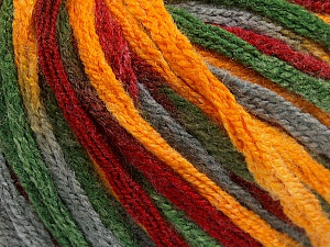 Fiber Content 50% Wool, 50% Acrylic, Brand Ice Yarns, Grey, Green, Gold, Burgundy, Yarn Thickness 6 SuperBulky  Bulky, Roving, fnt2-54485