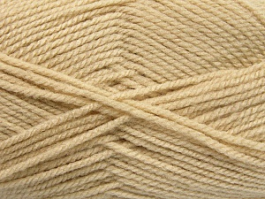 Worsted  Fiber Content 100% Acrylic, Light Beige, Brand Ice Yarns, Yarn Thickness 4 Medium  Worsted, Afghan, Aran, fnt2-54495
