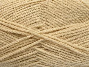 Worsted Fiber Content 100% Acrylic, Light Beige, Brand Ice Yarns, Yarn Thickness 4 Medium Worsted, Afghan, Aran, fnt2-54495