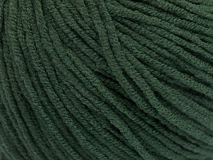 Fiber Content 50% Acrylic, 50% Cotton, Brand Ice Yarns, Dark Green, Yarn Thickness 3 Light  DK, Light, Worsted, fnt2-54667