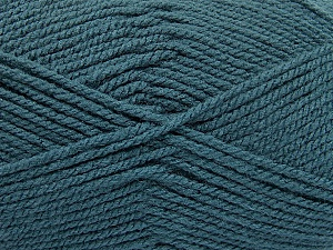 Worsted Fiber Content 100% Acrylic, Teal, Brand Ice Yarns, Yarn Thickness 4 Medium Worsted, Afghan, Aran, fnt2-54671