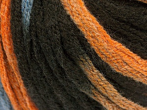Fiber Content 50% Acrylic, 50% Wool, Orange, Brand Ice Yarns, Brown, Blue, Yarn Thickness 6 SuperBulky  Bulky, Roving, fnt2-54766