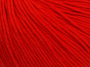 Global Organic Textile Standard (GOTS) Certified Product. CUC-TR-017 PRJ 805332/918191 Fiber Content 100% Organic Cotton, Red, Brand Ice Yarns, Yarn Thickness 3 Light DK, Light, Worsted, fnt2-54797