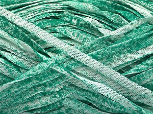 Fiber Content 82% Viscose, 18% Polyester, White, Brand Ice Yarns, Emerald Green, Yarn Thickness 5 Bulky  Chunky, Craft, Rug, fnt2-55013