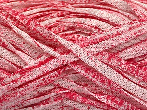 Fiber Content 82% Viscose, 18% Polyester, White, Pink, Brand Ice Yarns, Yarn Thickness 5 Bulky  Chunky, Craft, Rug, fnt2-55015