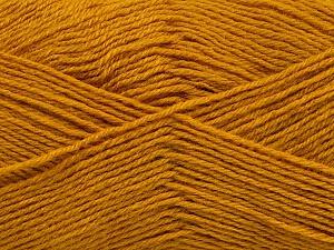 Fiber Content 60% Merino Wool, 40% Acrylic, Brand ICE, Dark Gold, Yarn Thickness 2 Fine  Sport, Baby, fnt2-55215