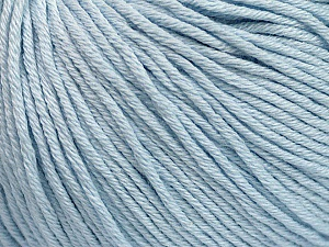 Global Organic Textile Standard (GOTS) Certified Product. CUC-TR-017 PRJ 805332/918191 Fiber Content 100% Organic Cotton, Light Blue, Brand Ice Yarns, Yarn Thickness 3 Light DK, Light, Worsted, fnt2-55217