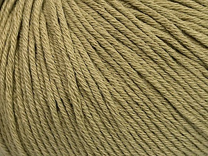Global Organic Textile Standard (GOTS) Certified Product. CUC-TR-017 PRJ 805332/918191 Fiber Content 100% Organic Cotton, Light Khaki, Brand Ice Yarns, Yarn Thickness 3 Light DK, Light, Worsted, fnt2-55218