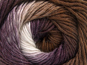 Fiber Content 50% Acrylic, 50% Wool, White, Purple, Brand Ice Yarns, Brown, Yarn Thickness 2 Fine  Sport, Baby, fnt2-55383