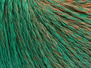 Fiber Content 55% Acrylic, 30% Wool, 15% Polyamide, Brand Ice Yarns, Emerald Green, Brown Shades, Yarn Thickness 3 Light  DK, Light, Worsted, fnt2-55429