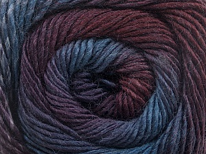 Fiber Content 50% Wool, 50% Acrylic, Purple, Maroon, Brand Ice Yarns, Blue Shades, Yarn Thickness 2 Fine  Sport, Baby, fnt2-55518
