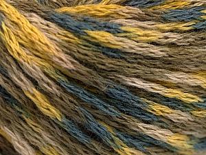 Fiber Content 60% Acrylic, 40% Wool, Yellow, Khaki, Brand Ice Yarns, Grey, Beige, fnt2-55523