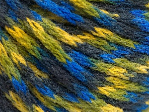 Fiber Content 60% Acrylic, 40% Wool, Yellow, Navy, Brand Ice Yarns, Green, Blue, fnt2-55526