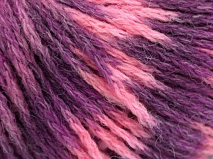Fiber Content 60% Acrylic, 40% Wool, Pink Shades, Lilac Shades, Brand Ice Yarns, Yarn Thickness 3 Light  DK, Light, Worsted, fnt2-55531