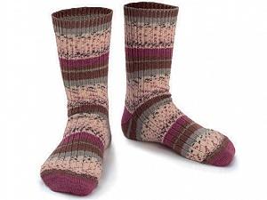 Fiber Content 75% Superwash Wool, 25% Polyamide, Purple, Brand Ice Yarns, Grey, Cream, Brown, Yarn Thickness 1 SuperFine  Sock, Fingering, Baby, fnt2-55541