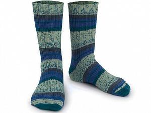 Fiber Content 75% Superwash Wool, 25% Polyamide, Brand Ice Yarns, Blue Shades, Yarn Thickness 1 SuperFine  Sock, Fingering, Baby, fnt2-55542