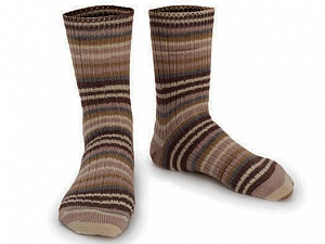 Fiber Content 75% Superwash Wool, 25% Polyamide, Brand Ice Yarns, Grey, Cream, Brown Shades, Yarn Thickness 1 SuperFine  Sock, Fingering, Baby, fnt2-55549
