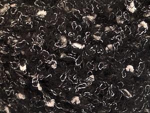 Fiber Content 26% Polyamide, 22% Acrylic, 18% Viscose, 17% Wool, 17% Alpaca, White, Brand Ice Yarns, Black, fnt2-55805