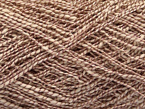 Fiber Content 62% Cotton, 23% Viscose, 15% Polyamide, Rose Brown, Brand Ice Yarns, Cream, Yarn Thickness 2 Fine  Sport, Baby, fnt2-56159