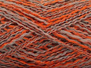 Fiber Content 44% Wool, 44% Acrylic, 12% Polyamide, Orange, Light Grey, Brand Ice Yarns, Yarn Thickness 2 Fine  Sport, Baby, fnt2-56196