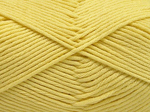 Fiber Content 50% SuperFine Nylon, 50% SuperFine Acrylic, Light Yellow, Brand Ice Yarns, Yarn Thickness 4 Medium  Worsted, Afghan, Aran, fnt2-56284
