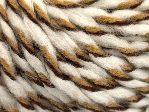 Fiber Content 50% Wool, 50% Acrylic, White, Brand ICE, Brown Shades, fnt2-56316