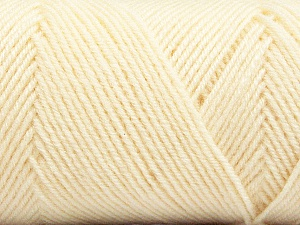 Fiber Content 50% Acrylic, 50% Wool, Brand Ice Yarns, Cream, Yarn Thickness 3 Light  DK, Light, Worsted, fnt2-56424
