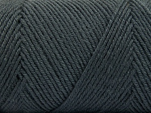 Fiber Content 50% Acrylic, 50% Wool, Brand Ice Yarns, Dark Grey, Yarn Thickness 3 Light  DK, Light, Worsted, fnt2-56426