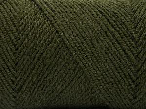 Fiber Content 50% Wool, 50% Acrylic, Brand Ice Yarns, Dark Khaki, Yarn Thickness 3 Light  DK, Light, Worsted, fnt2-56430