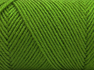 Fiber Content 50% Wool, 50% Acrylic, Light Green, Brand Ice Yarns, Yarn Thickness 3 Light  DK, Light, Worsted, fnt2-56434