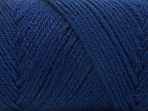 Fiber Content 50% Wool, 50% Acrylic, Navy, Brand Ice Yarns, Yarn Thickness 3 Light  DK, Light, Worsted, fnt2-56435