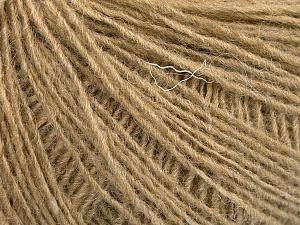 Fiber Content 50% Wool, 50% Acrylic, Light Camel, Brand Ice Yarns, Yarn Thickness 2 Fine  Sport, Baby, fnt2-56488