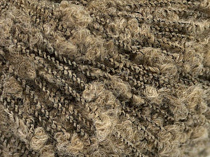 Fiber Content 60% Superwash Merino Wool, 25% Baby Alpaca, 2% Elastan, 13% Polyamide, Brand Ice Yarns, Dark Beige, Black, fnt2-56539