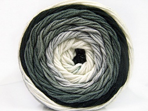 Fiber Content 100% Acrylic, White, Brand Ice Yarns, Grey, Black, Yarn Thickness 4 Medium  Worsted, Afghan, Aran, fnt2-56543