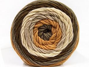 Fiber Content 100% Acrylic, Brand Ice Yarns, Grey, Cream, Brown Shades, Yarn Thickness 4 Medium  Worsted, Afghan, Aran, fnt2-56544