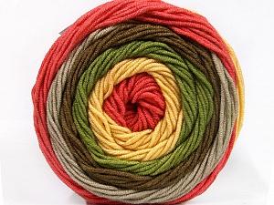 Fiber Content 100% Acrylic, Yellow, Salmon, Brand Ice Yarns, Grey, Green, Brown, Yarn Thickness 4 Medium  Worsted, Afghan, Aran, fnt2-56545